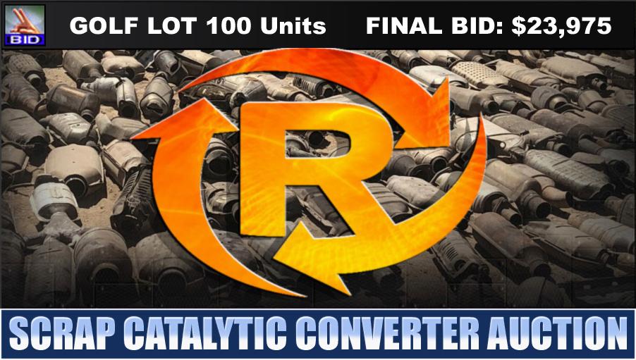 Golf Auction | 100 Scrap Catalytic Converters No Reserve Scrap Catalytic Converter